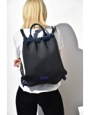 Stellar Denim Athleisure Black Neopren Backpack