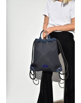 Stellar Denim Athleisure Black Neopren Backpack