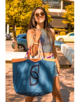 Stellar Orange submarine, Oversized Beach Bag