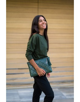 STELLAR QUILTED PADDED, CLUTCH BAG