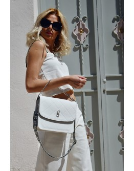 White Dream Denim shoulder bag
