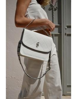 White Dream Denim shoulder bag