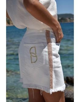 Stellar White Dream Denim Mini Skirt