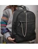 Leather-trimmed Black Delavé Stellar Man Backpack