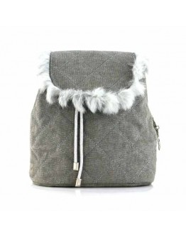 Mini Soft Gray Backpack Bag