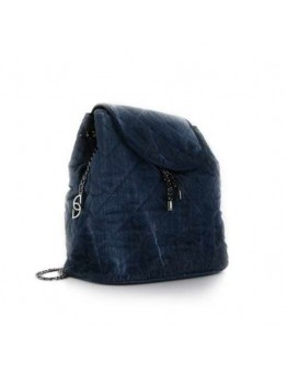 Velour Blue Backpack Bag - Limited Edition